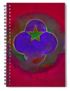 American Cats And Flowers Spiral Notebook