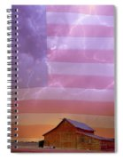American Country Stormy Night Spiral Notebook