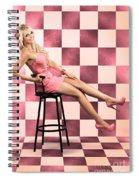 American Culture Pin Up Girl Inside 60s Retro Diner Spiral Notebook