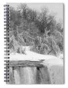 American Falls In Winter In Black And White Spiral Notebook