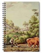 American Farm Scenes Spiral Notebook