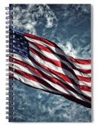 American Flag 0680b Spiral Notebook