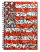 American Flag Abstract 2 With Trees  Spiral Notebook