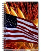 American Flag And Fireworks Spiral Notebook