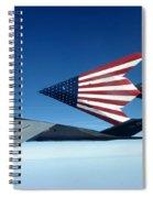 American Flag F 117 Nighthawks Spiral Notebook