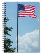 American Flag Flying Proud Spiral Notebook