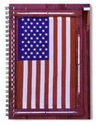 American Flag In Red Window Spiral Notebook