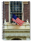 American Flag On An Old Building Spiral Notebook