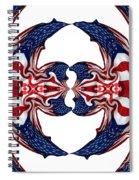 American Flag Polar Coordinate Abstract 1 Spiral Notebook