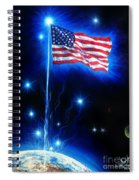 American Flag. The Star Spangled Banner Spiral Notebook
