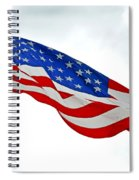 American Flag With Eagle Spiral Notebook