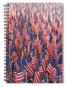 American Flags In Tampa Spiral Notebook