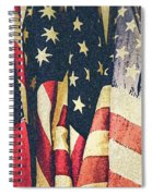 American Flags Painted Square Format Spiral Notebook