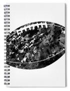 American Football-black Spiral Notebook