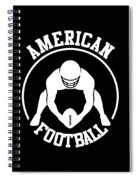 American Football Player With Ball And Helmet Spiral Notebook