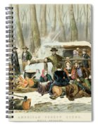 American Forest Scene Maple Sugaring Spiral Notebook