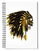 American Indian Skull Icon Background Spiral Notebook