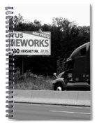 American Interstate - Pennsylvania I-80 Bw 2 Spiral Notebook
