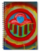 American Love Button Spiral Notebook