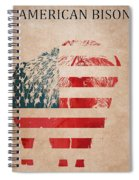American Mammal The Bison Spiral Notebook