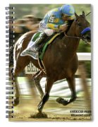 American Pharoah And Victory Espinoza Win The 2015 Belmont Stakes Spiral Notebook
