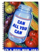 American Propaganda Poster Promoting Canned Food Spiral Notebook