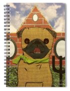American Pug Gothic Spiral Notebook