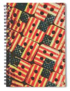 American Quilting Background Spiral Notebook