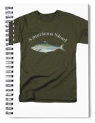 American Shad  Spiral Notebook