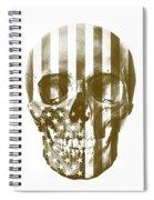 American Skull Beige Spiral Notebook