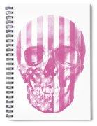 American Skull Pink Spiral Notebook