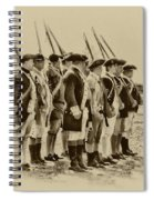 American Soldiers At Fort Mifflin Spiral Notebook