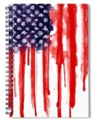 American Spatter Flag Spiral Notebook