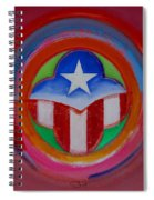 American Star Button Spiral Notebook