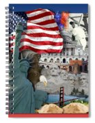 American Symbolicism Spiral Notebook