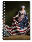Americana - Flag - Birth Of The American Flag 1915 Spiral Notebook