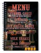 Americana - Food - Menu  Spiral Notebook