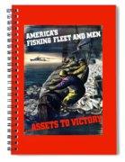 America's Fishing Fleet And Men  Spiral Notebook