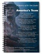 America's Team Poetry Art Spiral Notebook