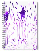 Amethyst Dancing Flowers Spiral Notebook