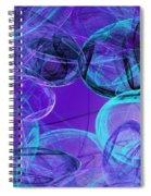 Amethyst Gems Stones Spiral Notebook