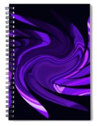 Amethyst Heart Sun Spiral Notebook