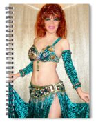 Ameynra Belly Dance Fashion. Emerald 09 Spiral Notebook