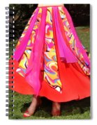 Ameynra Belly Dance Fashion - Multi-color Skirt 93 Spiral Notebook
