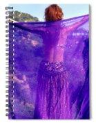 Ameynra Belly Dance. Purple Veil Spiral Notebook