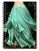 Ameynra Design Aqua-green Chiffon Skirt Spiral Notebook