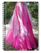 Ameynra Design - Pink-white Petal Skirt 146 Spiral Notebook