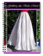 Ameynra Design. Satin Skirts - Red, White, Blue Spiral Notebook