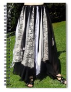 Ameynra Fashion Gothic Skirt With Lace Spiral Notebook