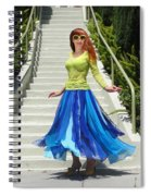 Ameynra Fashion. Petal Skirt. Model Sofia Spiral Notebook